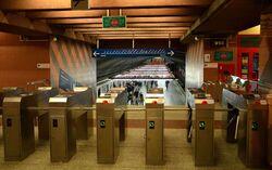 Bramki biletowe stacja Pole Mokotowskie
