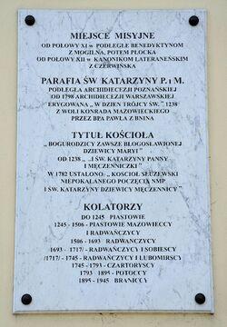 Tablica kościół św. Katarzyny