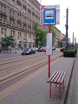 Trasa Lazienkowska przystanek