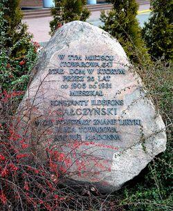 Kamień Gałczyńskiego ulica Towarowa