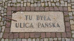Park Świętokrzyski (tablica, tu była ulica Pańska)
