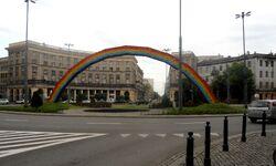 Plac Zbawiciela (tęcza)