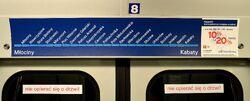 Mapa I linii w wagonie metra