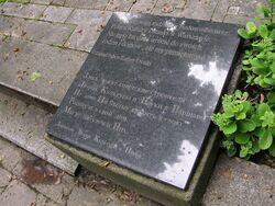 Tablica Zarządu PKiN na Cmentarzu Prawosławnym na Woli