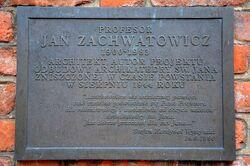 Katedra św. Jana (tablica, Jan Zachwatowicz)