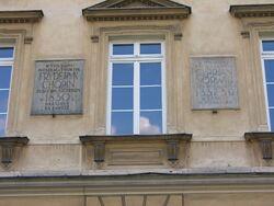 Pałac Czapskich Tablica ostatnie mieszkanie Fryderyka Chopina
