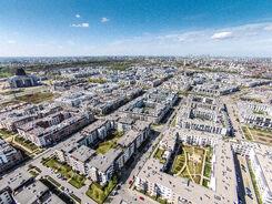 Widok Miasteczka Wilanów z góry, Czerwiec 2015, FOT