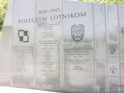 Fragment Pomnika Lotnikow