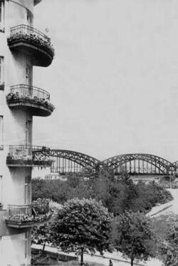 Most Średnicowy przed II Wojną Światową