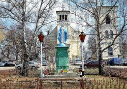 Figura Matki Boskiej Nieustającej Pomocy kościół św. Katarzyny