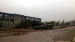 Zburzony budynek FSO