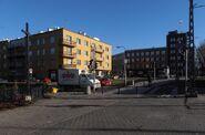 Plac Kuronia, Gdańska (krzyż przydrożny)