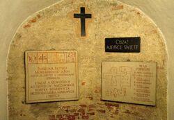 Plan podziemi Katedra św. Jana