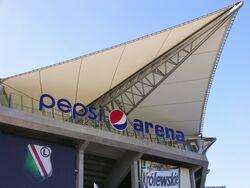 Nowa nazwa stadionu - wejście nad trybunę zachodnią