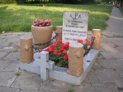 Św. Wincentego, Oszmiańska (kamień pamiątkowy)