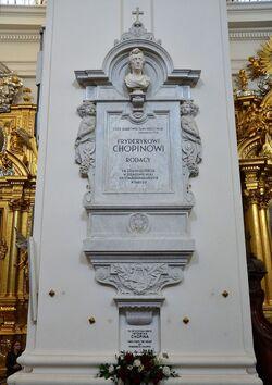 Epitafium i serce Fryderyka Chopina Kościół św. Krzyża