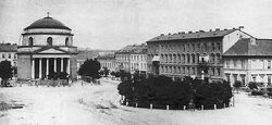 Kościół św. Aleksandra w Warszawie ok 1870