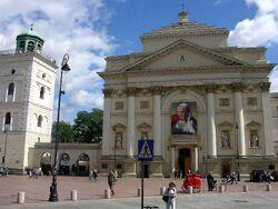 Portret Jana Pawła II kościół św. Anny