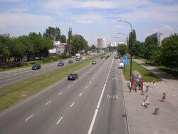Trasa Łazienkowska, buspas)