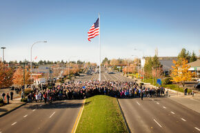 Federal Way Veterans Day Raise The Flag Crowd