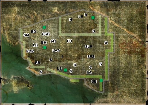 Wasteland 2 Map California locations
