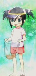 Tomoko as a child