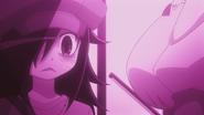 Tomoko stares at Yuu's assets