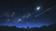 Tomoko watches the meteor shower