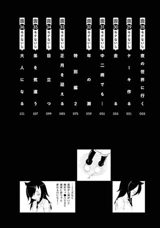 WataMote Manga v04 contents