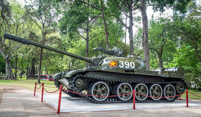 Chinese-tank-reunification-palace-ho-chi-minh-vietnam-april-type-yard-same-model-burst-gates-39596616