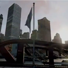 Chicago egyik emelő hídja