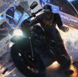 Classic Motorcycle(Front)-WatchDogs