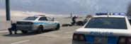 Police shooting at criminals