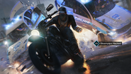 Aiden hacking a steampipe whilst riding a motorcycle, Watch Dogs