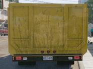 Dump truck rear