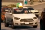 Taxi Cab (Front-White)-WatchDogs