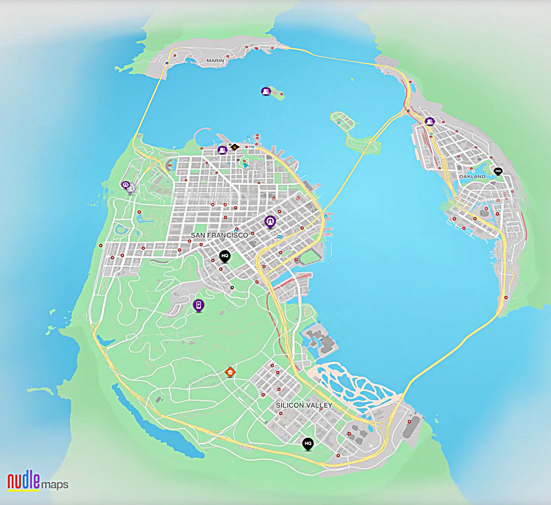 nudle maps sf san francisco bay area