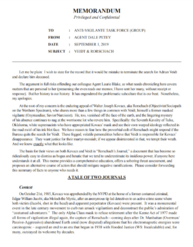 Rorschachs Journal FBI Memo Page 1