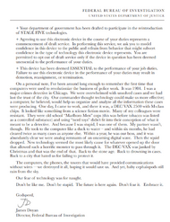The Computer and You FBI Memo Page 2