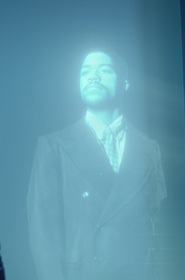 Obie Williams hologram in S 1 E 4