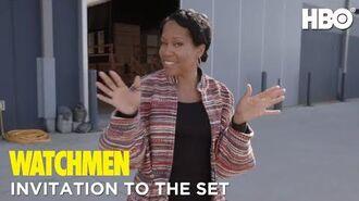 Watchmen Invitation to Set with Regina King HBO