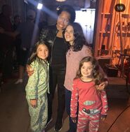 Dylan Schombing, Lily Rose Smith and Adelynn Spoon with Regina King in BTS S1 E 9