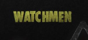 Watchmen logo in typewriter
