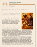 Greenwood Center for Cultural Heritage Tales of the Black Marshal Page 1