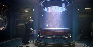 Adrian Veidt dropping baby squid - Watchmen (TV series)