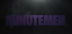 Watchmen logo changes to Minutemen Logo in S 1 E 6