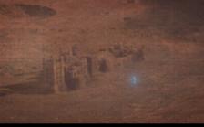 Dr Manhattan building life size sand castle on Mars