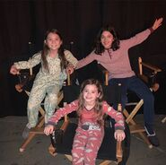 Dylan Schombing, Lily Rose Smith and Adelynn Spoon BTS Image 03 in S1 E 9