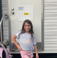 Lily Rose Smith Watchmen BTS showing her trailer