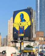 Bilboard in New York City for Watchmen TV Series
